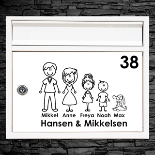 Postkasse stickers - Familie#1 - Wallstickers