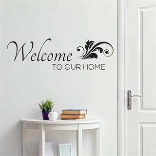 Welcome to our home #1 - Wallstickers