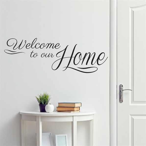 Welcome to our home #2 - Wallstickers