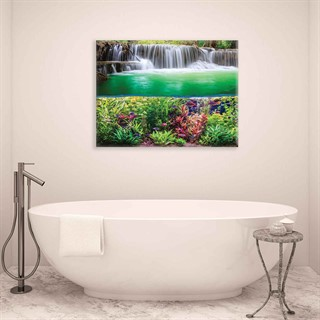 Waterfall Jungle Nature - Fotolærred (100cm x 75cm)
