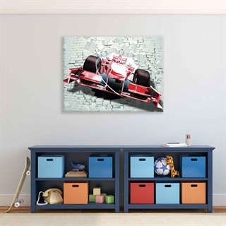 Formula 1 Car Red  - Fotolærred (100cm x 75cm)