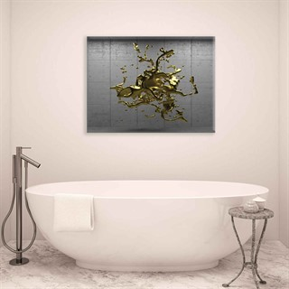 Gold Splash - Fotolærred (100cm x 75cm)