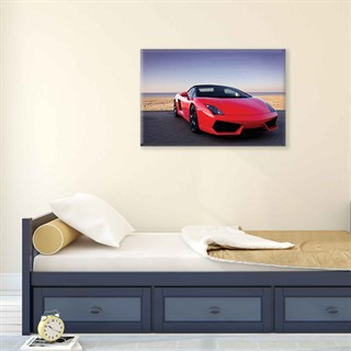 Car Lamborghini Luxury Red - Fotolærred (60cm x 40cm)