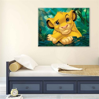 The Lion King Simba - Fotolærred (80cm x 60cm)
