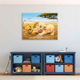The Lion King Simba Nala - Fotolærred (100cm x 75cm)