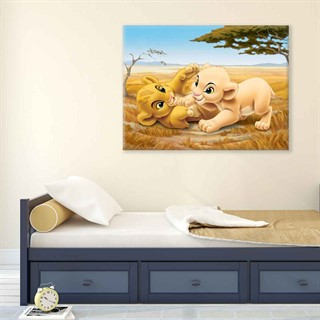The Lion King Simba Nala - Fotolærred (80cm x 60cm)