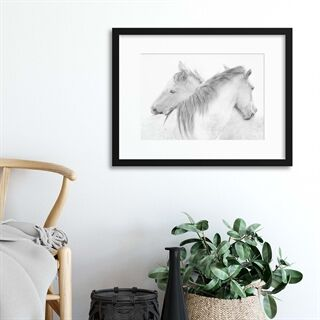 Horses by Marie-Anne Stas - Indrammet plakat
