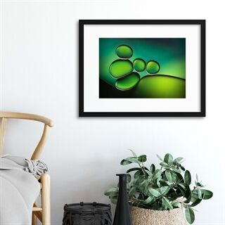 Shades of Green by Jacqueline Hammer - Indrammet plakat