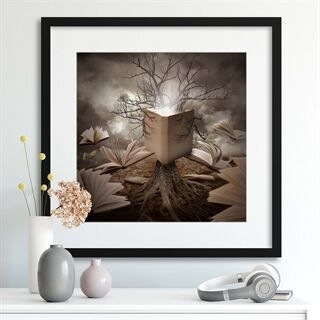 Old Tree Reading Story Book by Angela Waye - Indrammet plakat