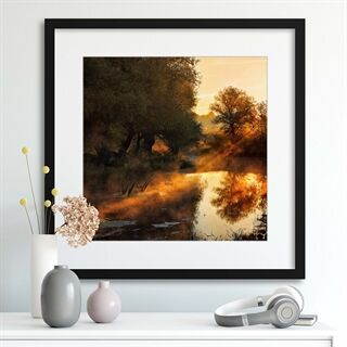 When nature paints with light I by Leicher Oliver - Indrammet plakat