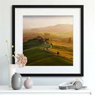 Val d'Orcia by Jarek Pawlak - Indrammet plakat