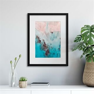Coastal Colours - Indrammet plakat