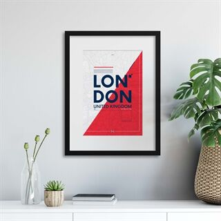 London City Travel Poster - Indrammet plakat