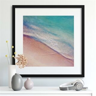 Beach Layers - Indrammet plakat