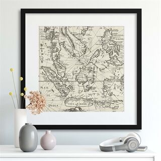 Vintage Map South East Asia Rijks Museum - Indrammet plakat