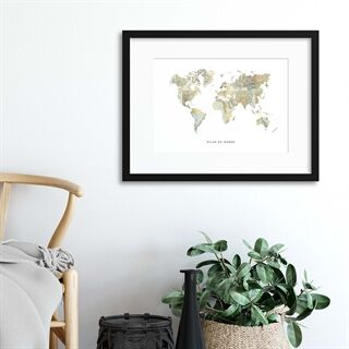 Map Countries: Atlas du Monde - Indrammet plakat