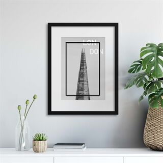The Shard, London - Indrammet plakat