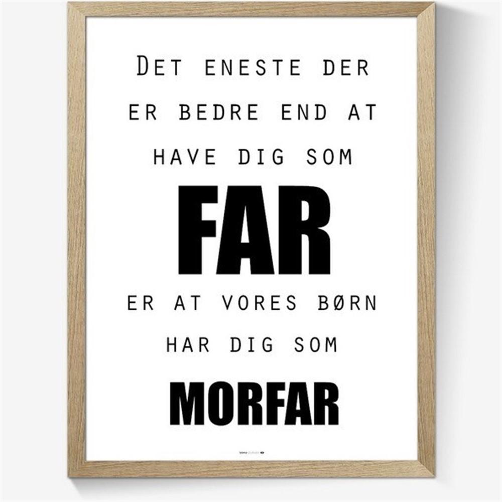 verdens bedste far citat Plakat til din far/morfar/farfar. Plakater billig fragt. verdens bedste far citat