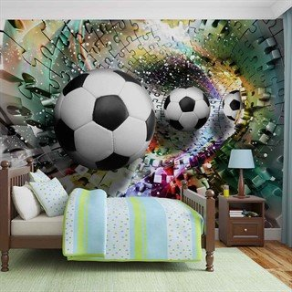 Colorful Puzzle Football - Tapet/fototapet