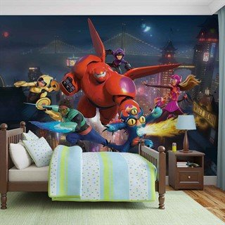 Tapet-disney-big-hero-6-fototapet-vægmaleri-1732wm-other