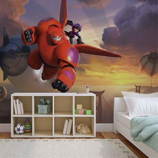 Tapet-disney-big-hero-6-fototapet-vægmaleri-1736wm-other
