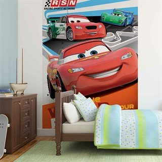 Tapet-disney-cars-lightning-mcqueen--fototapet-vægmaleri-3059wm-disney-cars
