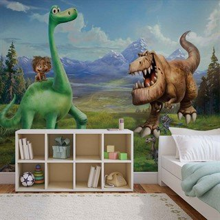 Tapet-disney-good-dinosaur-boys-bedroom-fototapet-vægmaleri-3171wm-disney-the-good-dinosaur