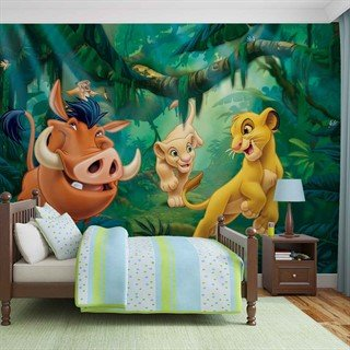 Tapet-disney-lion-king-pumba-simba-fototapet-vægmaleri-3203wm-disney-the-lion-king