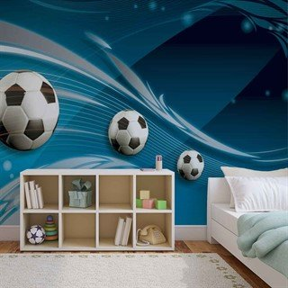 Football Blue Track - Tapet/fototapet