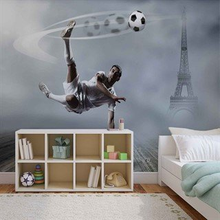 Football Player Paris - Tapet/fototapet