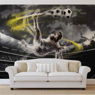 Football Player Stadium - Tapet/fototapet