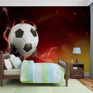 Football Red and Yellow - Tapet/fototapet