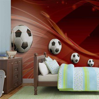 Football Red Track - Tapet/fototapet