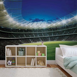 Football Stadium Sport  - Tapet/fototapet