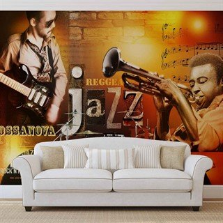 Tapet-jazz-retro-music-blues-fototapet-vægmaleri-060wm-people-and-music