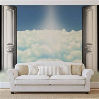 Sky Clouds Doors - Tapet/fototapet