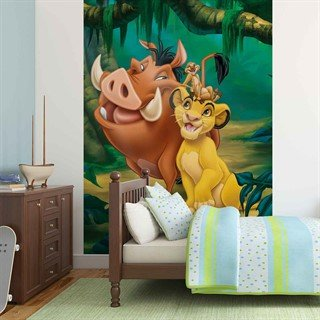 Tapet-the-lion-king-timon-pumba-simba-fototapet-vægmaleri-3209wm-disney-the-lion-king