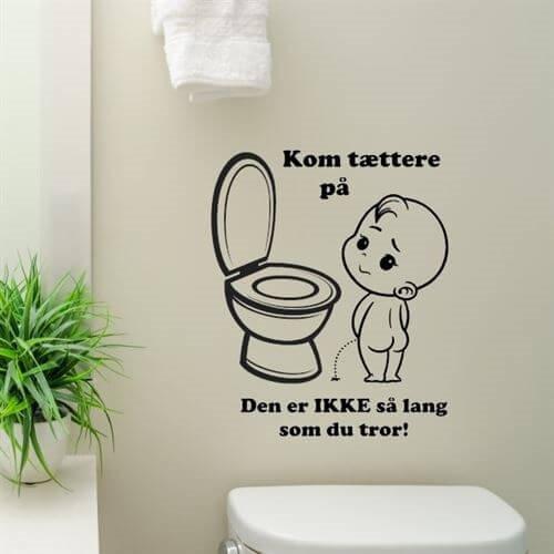 wc citater Kom tættere på sjov wallsticker til toilettet   fri fragt! wc citater