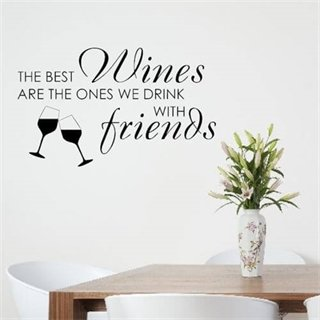 Wallsticker med teksten the best wines