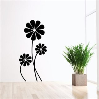 Wallsticker med 3 margueriter