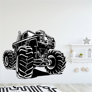 Monster Truck i sort/hvid wallsticker