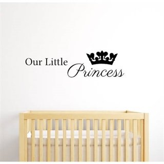 "Wallsticker med teksten ""Our little princess"""