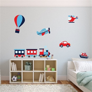 printet wallstickers med tekst wallstickers transport