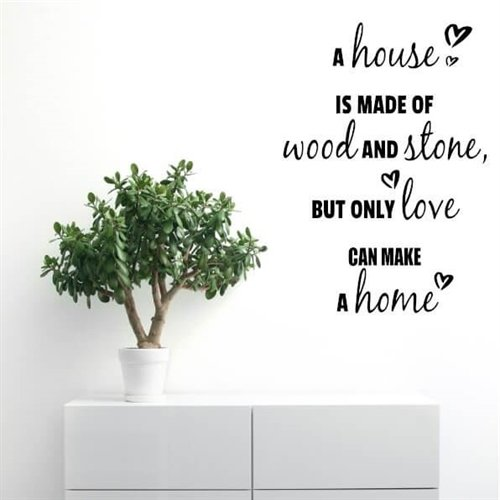 Wallstickers med teksten A Home is made of Love