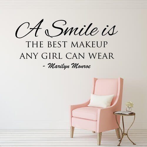 monroe citater The best makeup   Marilyn Monroe citat på wallsticker monroe citater