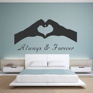 wallstickers med tekst always & forever