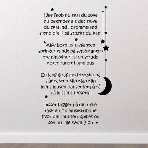 blobbers godnat sang - wallstickers børnesang. køb online