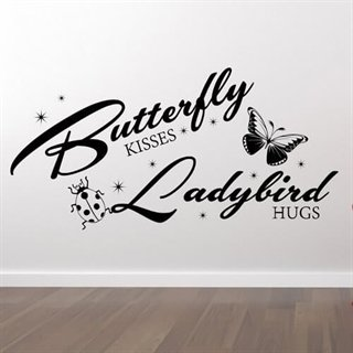 Wall stickers med teksten Butterfly kisses