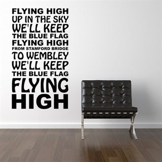 Chelsea F.C. - Flying High wallstickers med fodboldsang