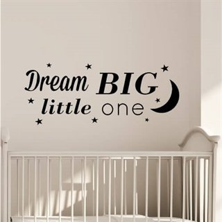 "Tekst ""Dream big little one"""